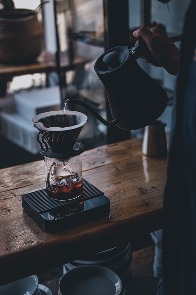 black ceramic mug