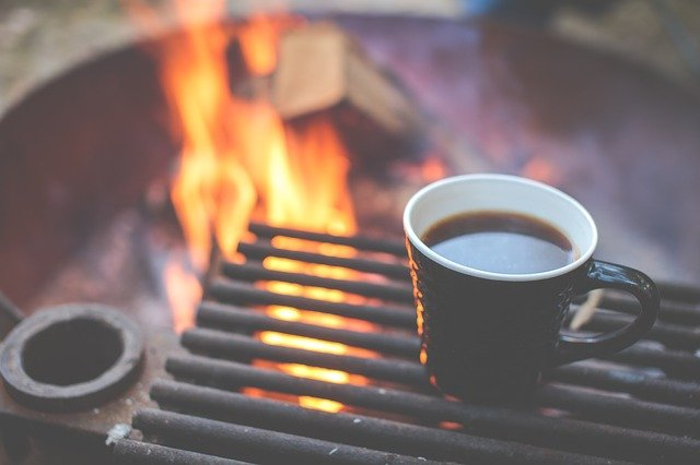 coffee by fire