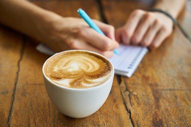 writing with coffee