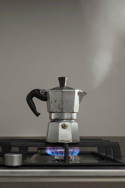 coffee percolator on stove