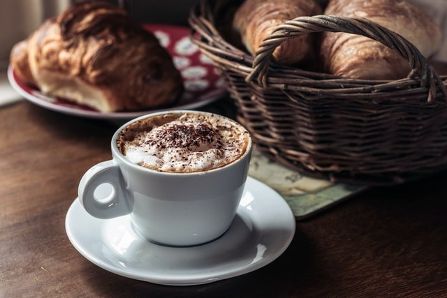 cappuccino with pastries