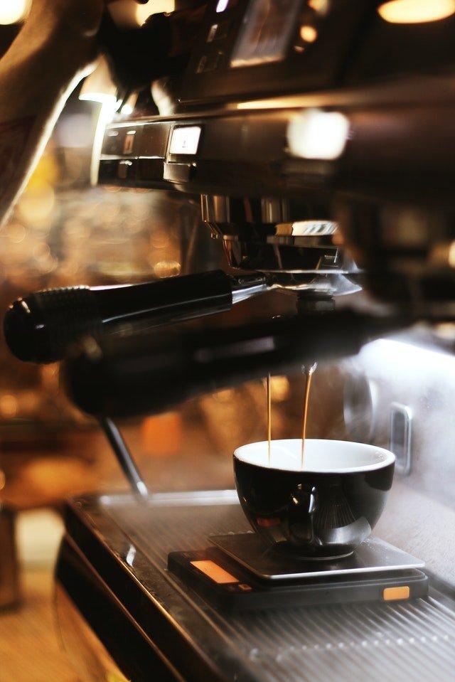 black espresso maker