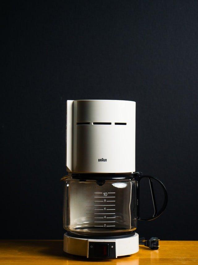 white drip coffee maker