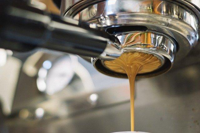coffee machine pouring shot