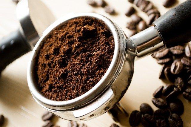 ground coffee ready for machine